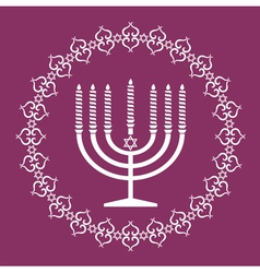 Jewish menorah holiday background vector image