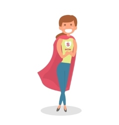 Mother Super hero Mom hero isolated vector image vector image