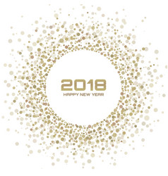 new year 2018 card gold light background vector image vector image