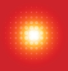 pattern halftone with flare vector image