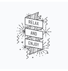 relax and enjoy Inspirational summer vector image