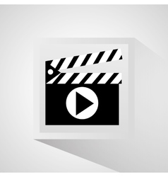 Clapboard and movie design vector