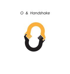 creative o letter icon abstract logo design vector image vector image