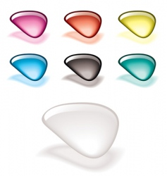 gel filled icons vector image vector image