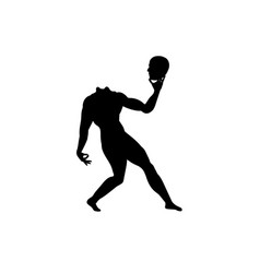 human body silhouette without head man anatomy vector image
