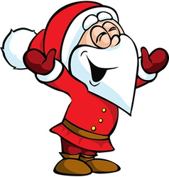 Santa Claus isolated on white background vector image vector image