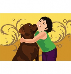 dog love vector image