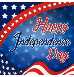 Happy Independence Day Celebration Card vector image