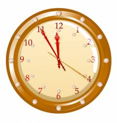 illustration of holiday clock vector image vector image