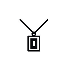 Isolated chaplet icon necklace element can vector