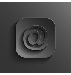 Mail icon - black app button vector image vector image