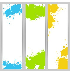 Vertical banners with paint splash vector image vector image