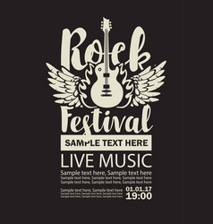 banner for rock festival live music vector image vector image