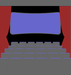 cinema facilities and chairs movie house picture vector image