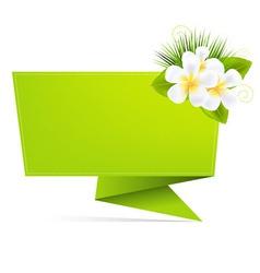eco origami paper vector image vector image