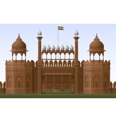 Red Fort vector image vector image