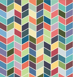 Seamless geometric chevron color textile pattern vector image vector image