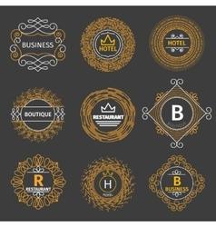 vintage logos for hotel restaurant vector image vector image