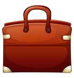 A brown handbag vector
