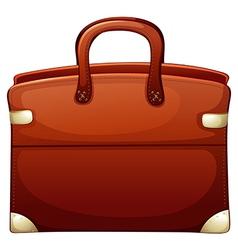 A brown handbag vector