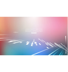 abstract lines with blurred colors background vector image
