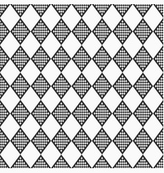 abstract seamless pattern checkered rhombuses vector image