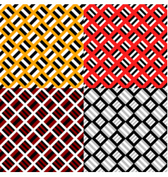 abstract seamless pattern set - square background vector image