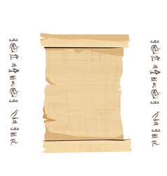 Ancient egypt papyrus scroll with wooden rod vector