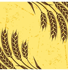 Background with ears of wheat vector image