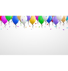 Balloons on the top vector