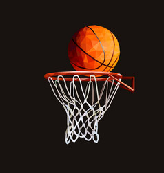 basketball hoop low poly design vector image