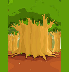 Big trees in the forest vector
