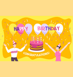 birthday invitation background vector image