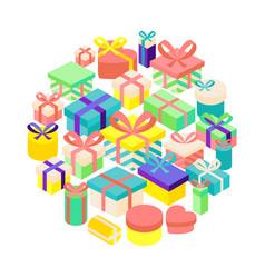birthday present set vector image