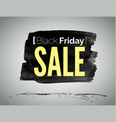 black friday sale advertisement label vector image