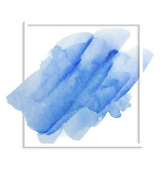 blue watercolor texture on a white background vector image