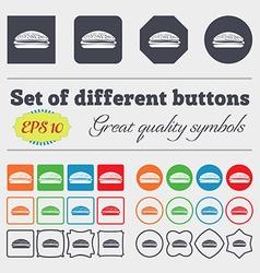 Burger hamburger icon sign Big set of colorful vector