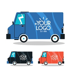 Bus delivery vector image