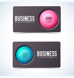 Business card banners set vector