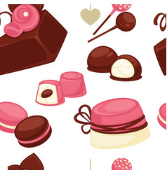 cakes and biscuits chocolate delicious food vector image