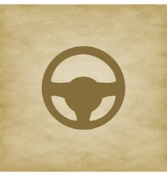 Car wheel on grunge background vector image
