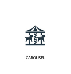 carousel icon simple element vector image