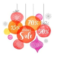Christmas backgound Christmas Sale poster vector