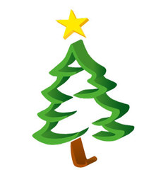 Christmas Tree 3D vector image
