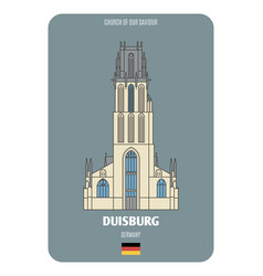 church our saviour in duisburg germany vector image
