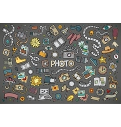 Colorful hand drawn Doodle cartoon set of vector image