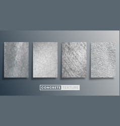 Concrete texture background set grunge stone wall vector