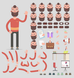 creation of a hipster character of all kinds vector image