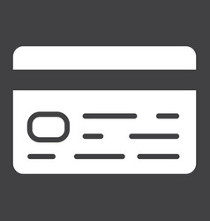 Credit card glyph icon business and finance vector