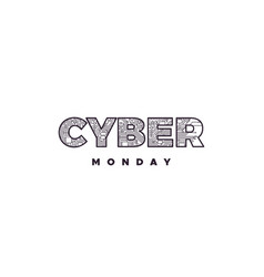 cyber monday label design vector image